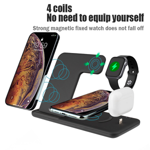 Image 2 - NOHON 15W 4 in 1 Qi Wireless Charger Stand For Apple Watch Airpods Foldable Fast Charging Dock Station For iPhone 12 11 X XS XR