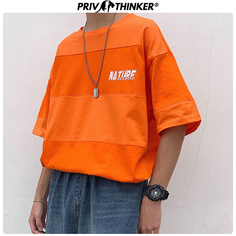 Privathinker Men Letter Printed Tshirts 2020 Mens Summer Funny Streetwear T-Shirt Male Casual Korean O-Neck T-shirts Collage Tee