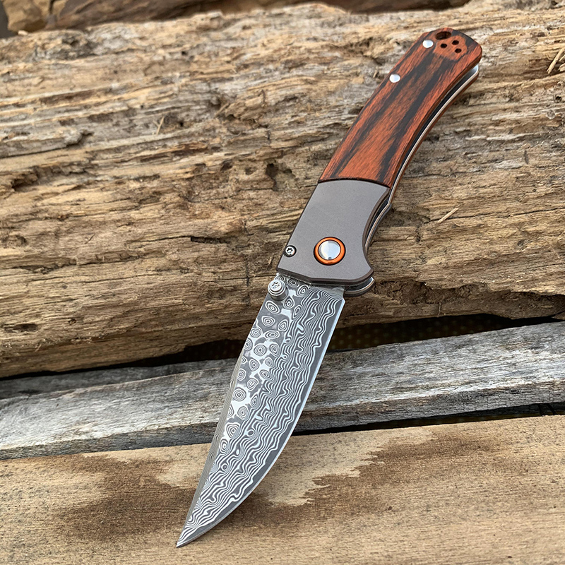 home improvement : New 15080 knife 5 blades S30 Damascus steel Outdoor Fishing Camping Hunting tool 58-60HRC High hardness Folding  knives