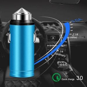 Image 3 - QC 3.0 USB البسيطة شاحن سيارة شحن سريع لل فون X سامسونج S8 هواوي P30 جميع سبائك الألومنيوم الهاتف المحمول سيارة  مهايئ شاحن