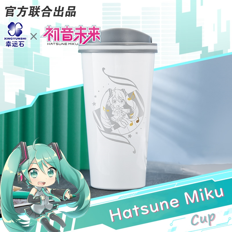 Vocaloid Miku Anime Hatsune Cup Bottle Stainless Steel Manga Role Action Figure Cosplay New Trendy Gift