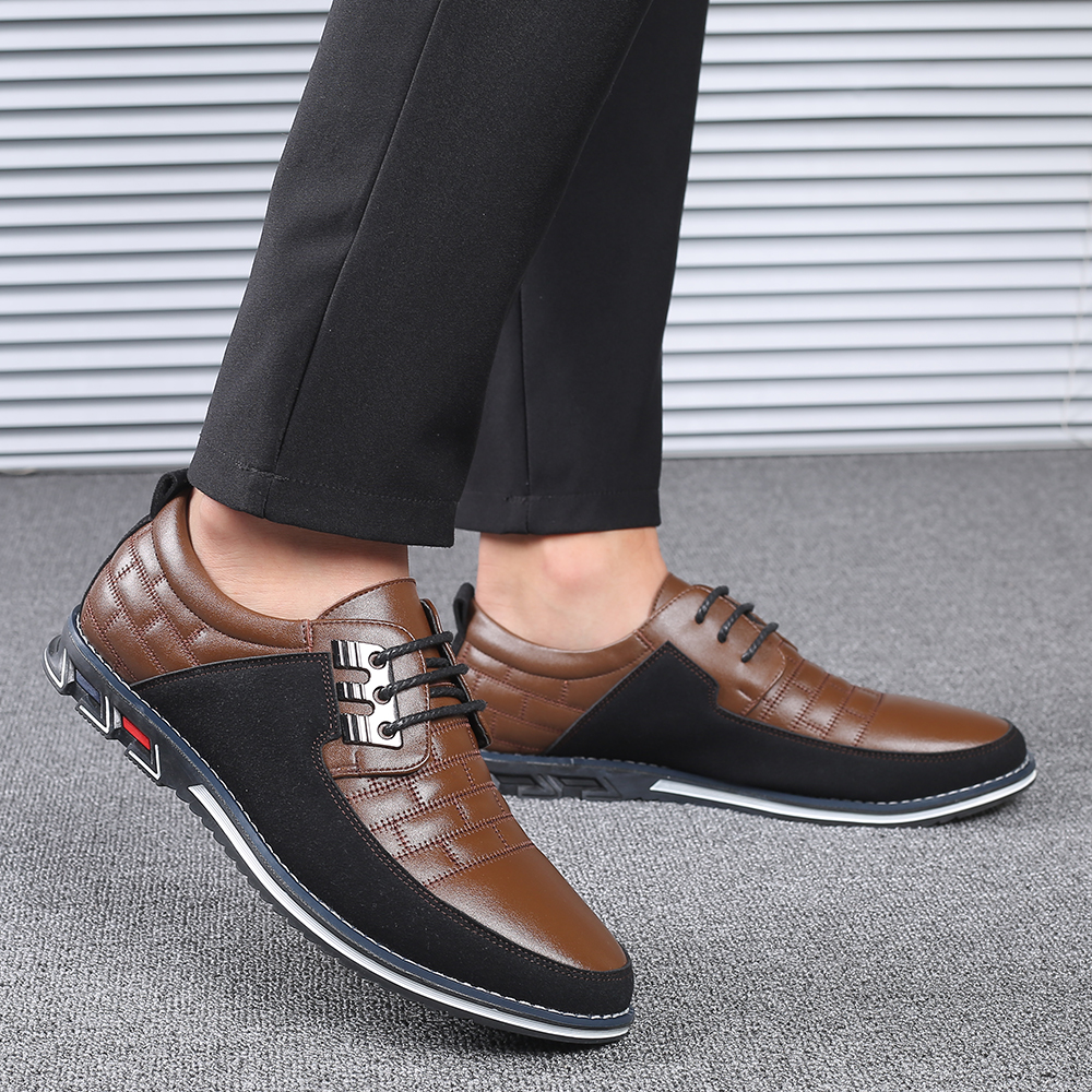 Hc3c261857c2b4c0d8dc75e4fc9a17e96F 2019 New Big Size 38-48 Oxfords Leather Men Shoes Fashion Casual Slip On Formal Business Wedding Dress Shoes Men Drop Shipping