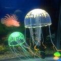 Künstliche Glowing-effekt Quallen Aquarium Dekoration Multi-farbe Optional Quallen Ornamente Aquarium Landschaft Zubehör