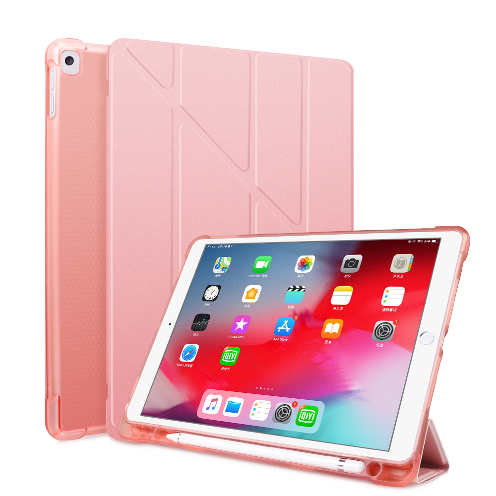 Rose Gold Green For iPad 10 2 2020 2019 Case A2197 A2270 PU Leather Silicone Smart Cover For iPad