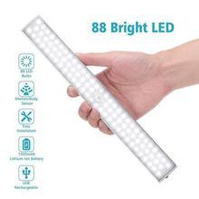 Motion Sensor Night Light Home Potable Chargable 88 LED Nightlamp Infrared Motion Detector Closet Lights Wall
