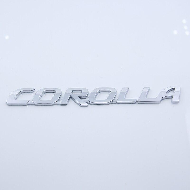 Lettre Emblème Chrome LIMITÉE SPORT MARK X COROLLA 240G PREVIA CAMRY vvt-i V8 VIGO 5.7 VX-R GX-R TRD Coffre De Voiture Autocollant pour Toyota