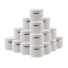 20 pçs vazio frasco cosmético 30g 50g 100g 250g caixa de creme de rosto plástico batom pote de creme garrafa de recipiente recarregáveis
