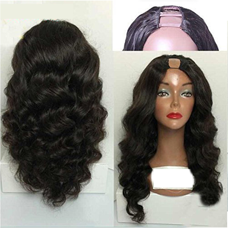 Eversilky Peruvian Body Wave 2x4 U Part Wigs Middle Part Glueless Remy Hair U Part Human Hair Wigs For Women130- 180%  Density