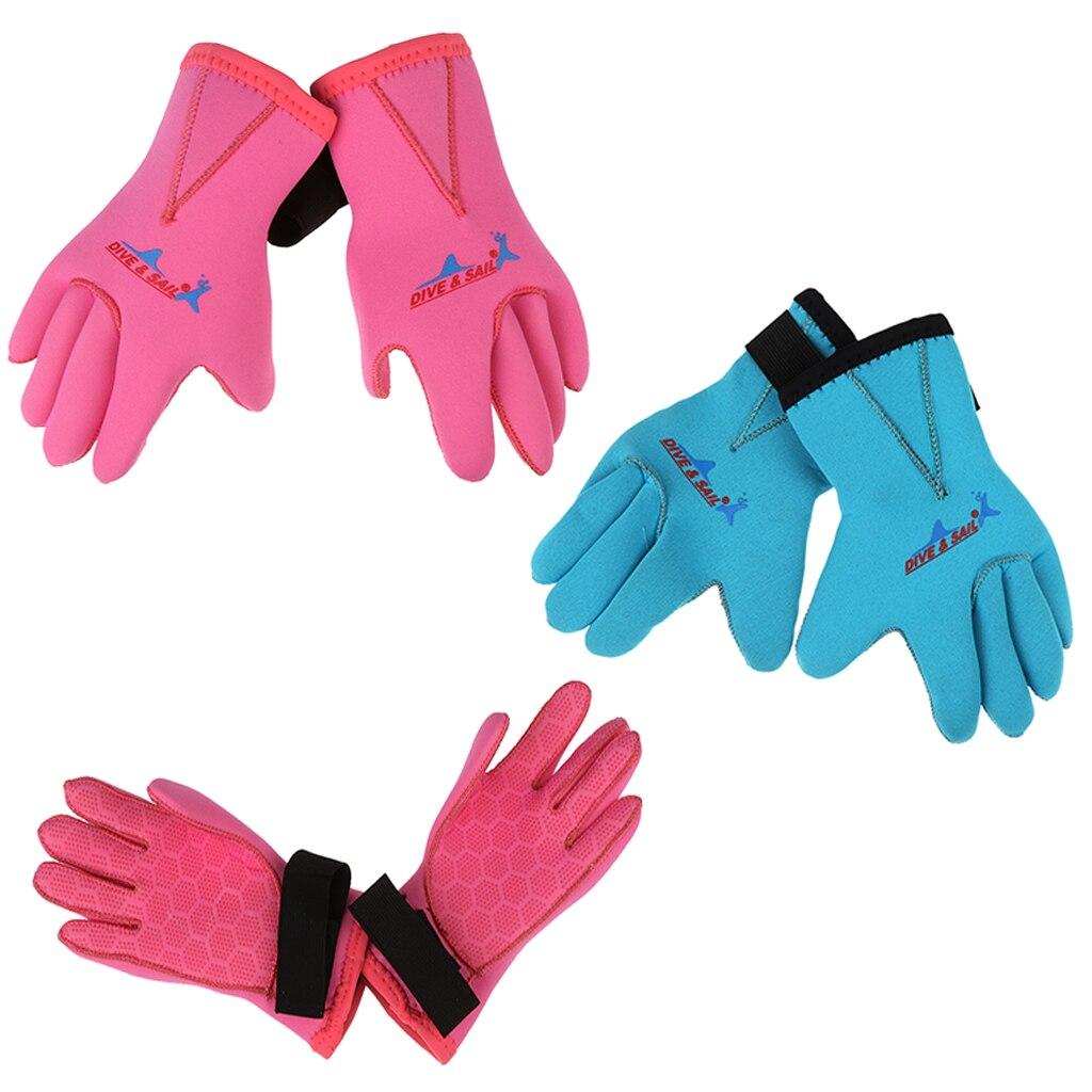 Детские неопреновые перчатки Гидрокостюма 3 мм, теплые зимние защитные перчатки для плавания, дайвинга, подводной охоты