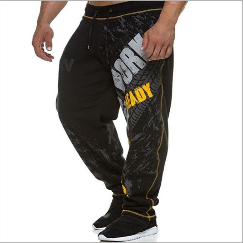 New Running Jogging Pants Men Cotton Soft Bodybuilding Joggers Sweatpants Harem Long Trousers  Fitness Sport Training Pants 1