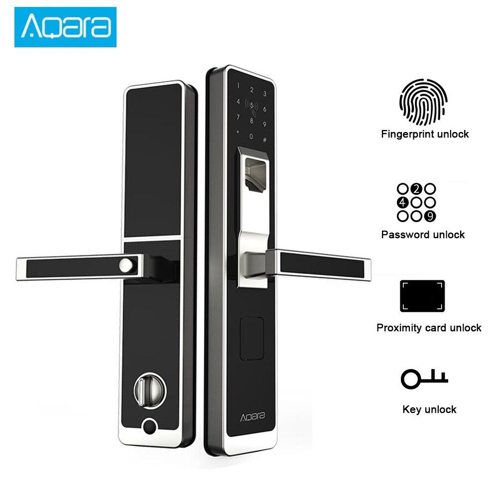 Genuine Aqara Smart Lock Door Touch Electronic Lock Live Fingerprint Unlock Password MiHome Mijia  App Control Home Security