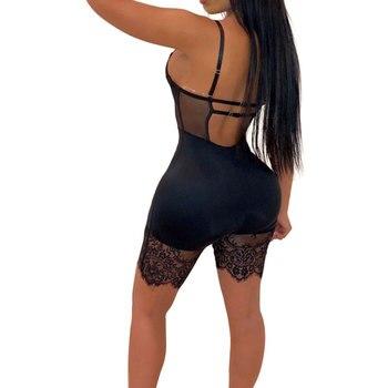 Women Sexy Romper Lace Backless Shorts Jumpsuit Hollow Out Playsuit Bodysuit 6