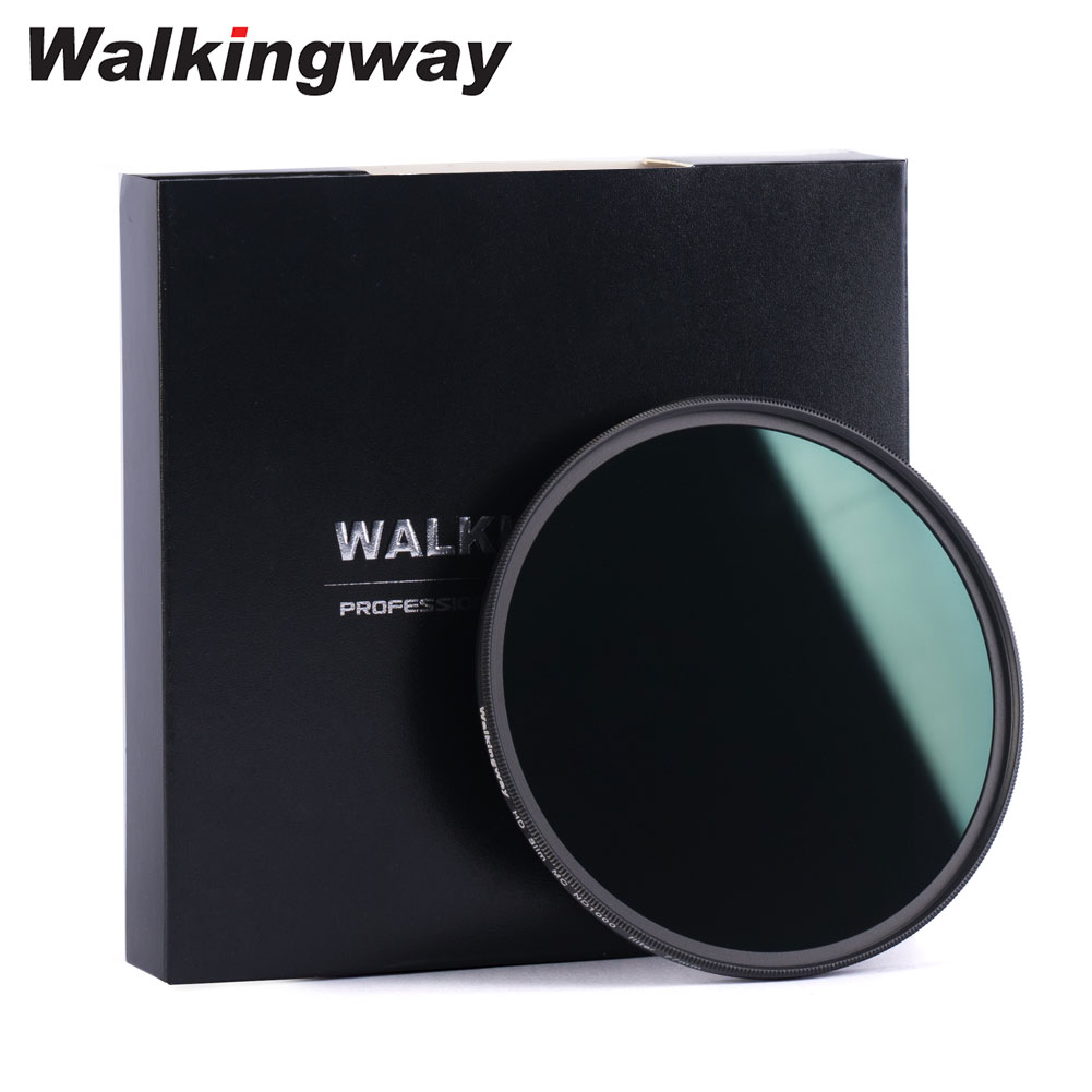 WalkingWay HD Multi-Coated MC ND Filter ND8 ND64 ND1000 Neutral Density Lens Filter for Nikon Canon Sony Camera 62 67 72 77 82mm
