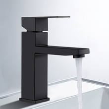 Bathroom Mixer Faucet Black Basin Faucet 304 Stainless Steel Bathroom Sink Wash Faucet Fashion Single Cold Single Handle Faucet