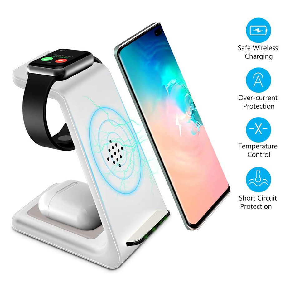 Bonola White 3 in 1 Fast Wireless Charging Stand  (3)