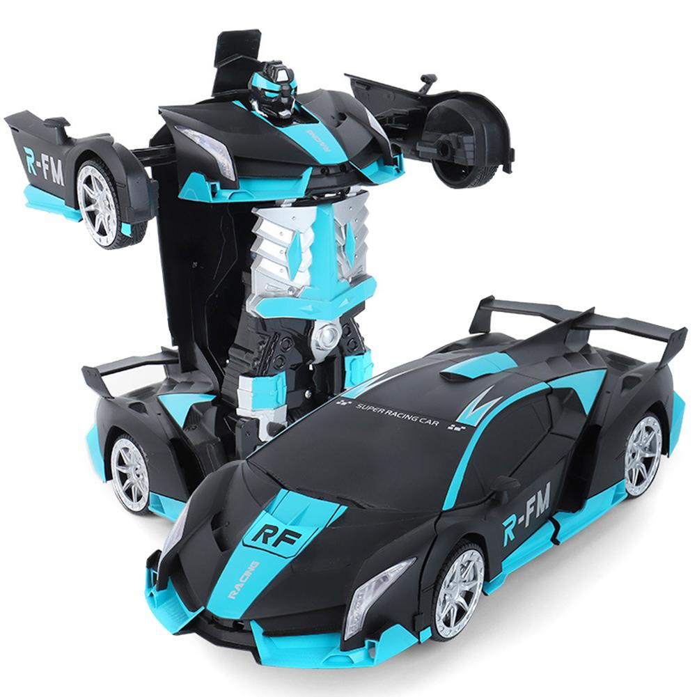 Rc Transformer 2 In 1 RC Car Driving Sports Cars Drive Transformation Robots Models Remote Control Car RC Fighting Toy Gift|RC Cars| |  - title=