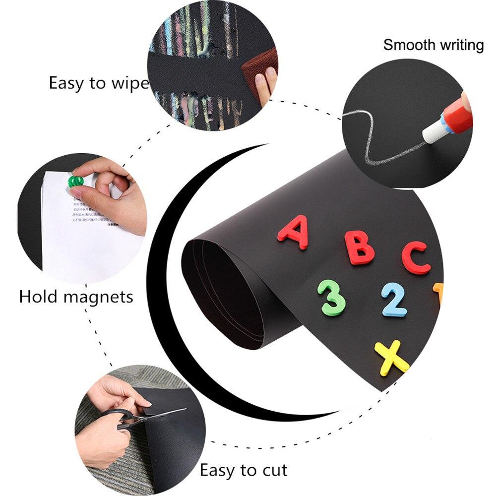 200x45cm segure ímãs quadro negro removível adesivo de parede quadro crianças aprendendo graffiti pintura mensagem blackboard brinquedo - 5