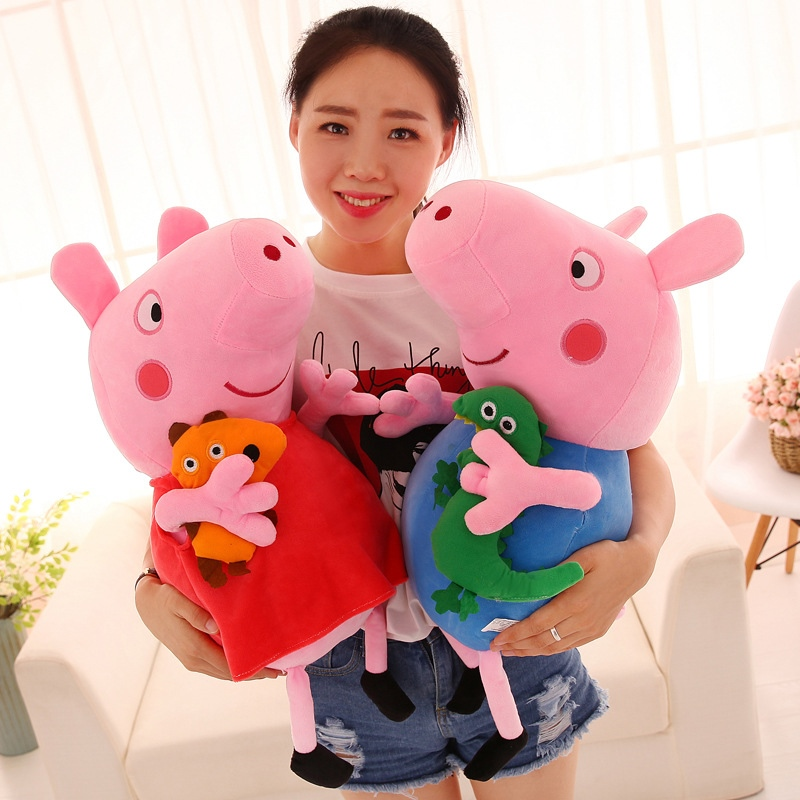 20/30//50/60cm Peppa pig George Family Plush Toy Stuffed Doll Party Decorations Peppa pig Ornament Keychain Kids Christmas Gifts 2