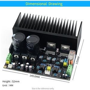 Image 4 - UNISIAN TDA7293 DC servo Auido Power Amplifier board 100W+100W TDA 7293 OP07 NE5534 High Power Amplifiers for Home audio system