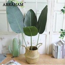 Feuilles de bananier tropicales 98cm, 3 pièces, fausse branche de bananier en plastique, grande feuille de palmier, décoration pour la maison et le bureau