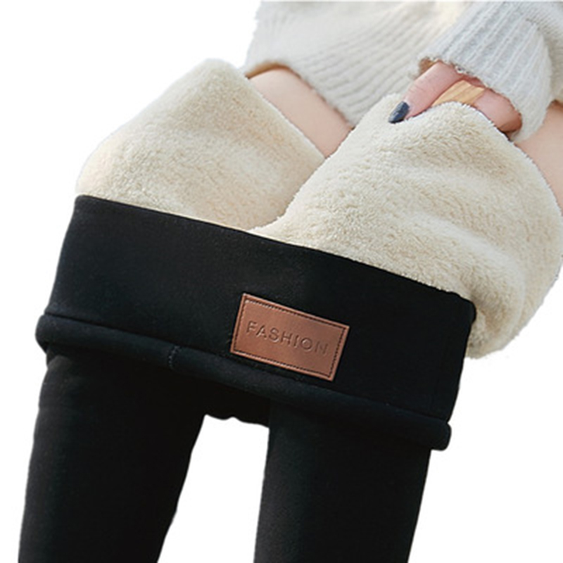 Cotton Panties Women Leggings Lambskin Cashmere Warm Pants Fleece Winter Leggings Skinny Thick Women Trousers Leggins Mujer