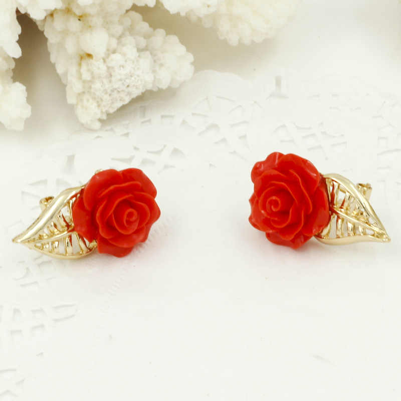 Liffly Модные женские ювелирные наборы Красная Роза ювелирные изделия Африка Дубай золотые свадебные ювелирные изделия набор ожерелье серьги кольцо