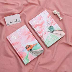 Image 2 - JIANWU ساكورا فتاة دفتر اللون الداخلية صفحة مخطط لتقوم بها بنفسك دفتر يوميات القرطاسية scool اللوازم المكتبية kawaii