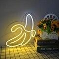 HDJSign банан светодиодный неоновый знак фраза прозрачный СВЕТОДИОДНЫЙ розовый синий пользовательский светильник neones дисплей домашний декор ...