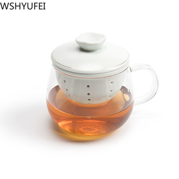 New style Ceramic tea cup with lid filter Creative office tea cup Travel portable tea set Household fashion drinkware WSHYUFEI 2