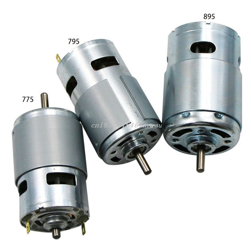 775/795/895 DC Motor DC 12V Ball Bearing Large Torque High Power Low Noise Electronic Motor New 2019