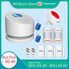 KERUI – panneau d'alarme sans fil W2 WiFi PSTN GSM, système de sécurité domestique anti-cambriolage, contrôle par application Compatible avec caméra IP RFID et détecteur PIR