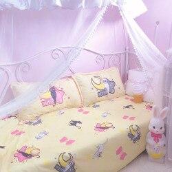 4 teile/satz Kawaii Sailor Moon Luna Katze Bettwäsche Set Für Mädchen Cartoon Anime Kinder Komfortable Bettwäsche Bettbezug Blatt kissenbezug