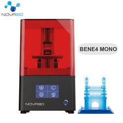 NOVA3D Bene4 Monochrome Screen Metal 3d Printer Super Quality Fast Printing 3D Printer Kits UV Curing Model DIY Upgrade Version