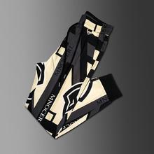 Casual pants men's slim spring and summer fashion brand personalized printing Leggings 2021 new Korean fashion sports pants