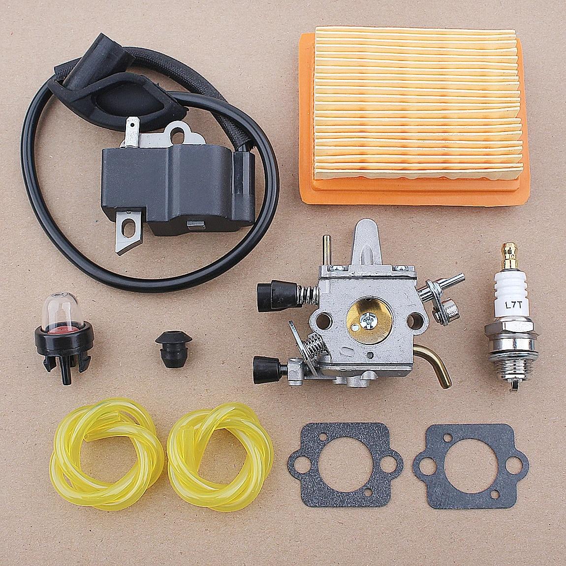 Carburetor Ignition Coil Air Filter For STIHL FS120.FS200.FS250.FS250R Chainsaw