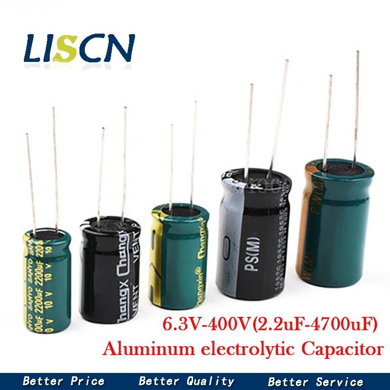High Frequency Low ESR Aluminum Capacitor 20% 10V 16V 25V 35V 50V 400V 100UF 220UF 330UF 470UF 680UF 1000UF 1500UF 2200UF 3300UF