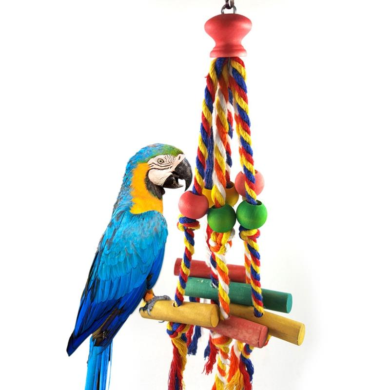 Bird Chewing Toy Funny Cotton Rope Parrot Toy Bite Resistant Bird Tearing Toy Cockatiels Parakeet Training Toy Bird Accessories