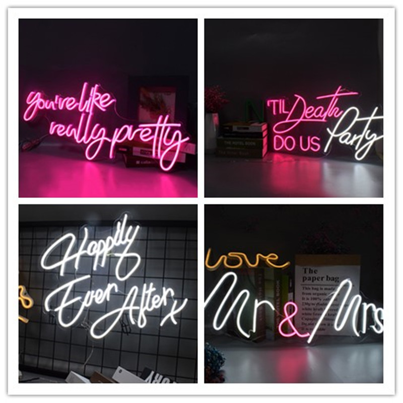 Flex Led 3D Oh Baby Custom Neon Signs Lights Letters for  Wall Decor Wedding Party