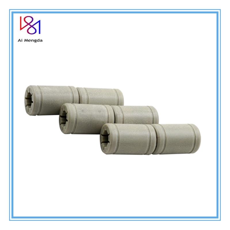 1PC Plastic Gray LM8UU 8 mm Linear Bearing Same As RJ4JP-01-08 RJ4JP 01 08 Anet Bearing Bush 3D printer cnc part