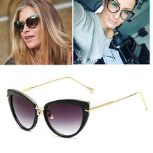 Classic luxury Brand designer Cat eye sunglasses Vintage butterfly Gradient women sun glasses UV400 emale