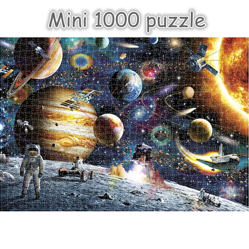 Mini Brain Puzzle Jigsaw Puzzles 1000 Pieces Wooden Assembling Adults Puzzles Toys For Children Kids Games Educational Toys