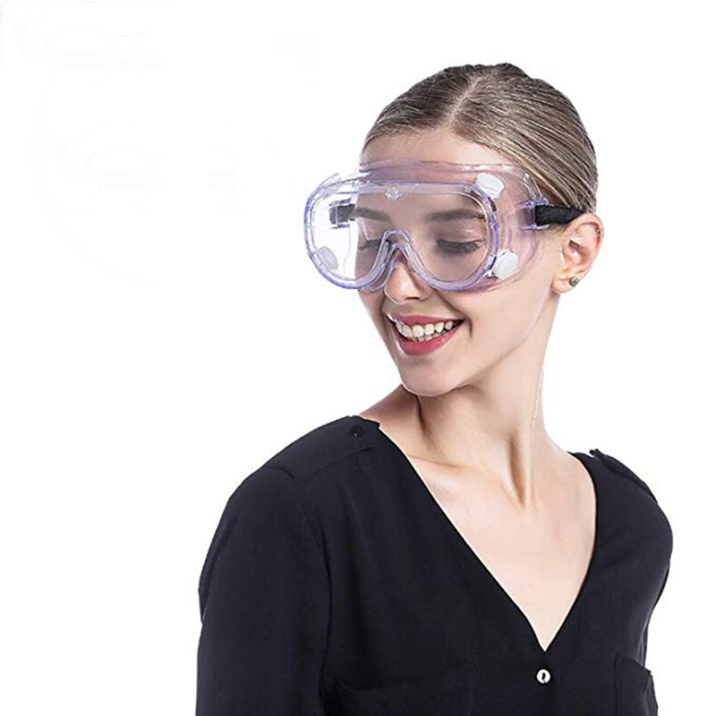 Safety Goggles Over Glasses, Anti-Fog Lab Safety Goggle Chemical Splash/Impact Clear Eye Protection Labor Glasses