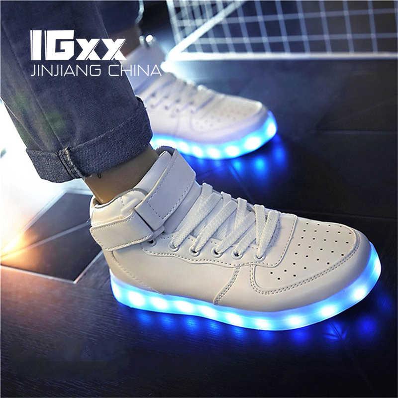 IGxx Adult LED Shoes For Men LED Light