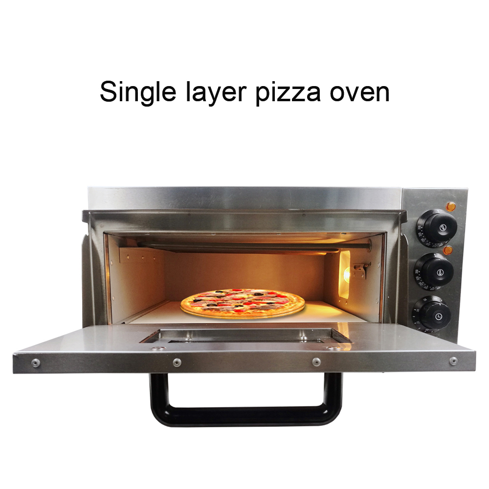 Easy To Operate Electric Pizza Oven Bakery Cooking Machine With Stainless Steel Material For Cheap Sale