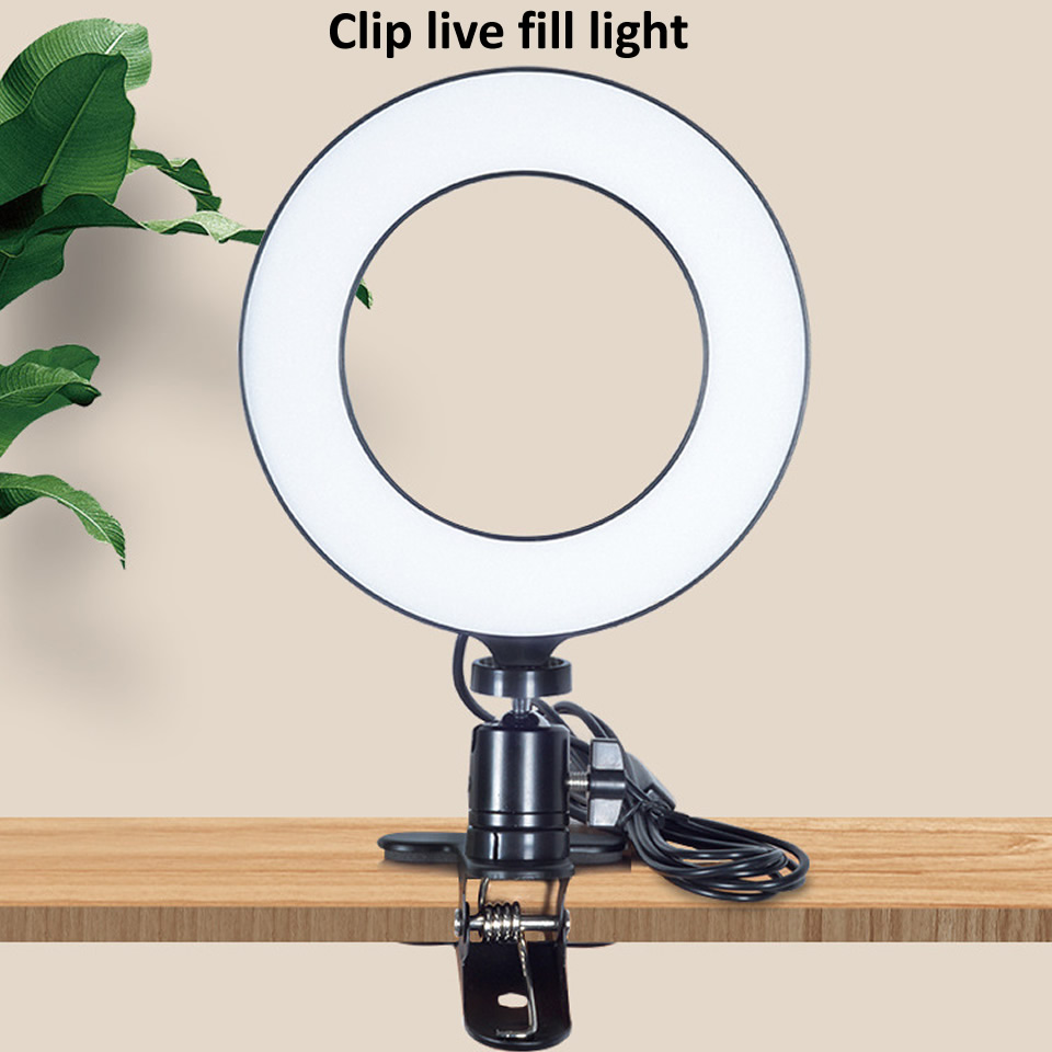 Hc3c58f0540e5430e9c281e0ec53b3d0eS OUTMIX 26cm Protable Selfie Ring Light for Youtube Live Streaming Studio Video LED Dimmable Photography Lighting With USB Cable