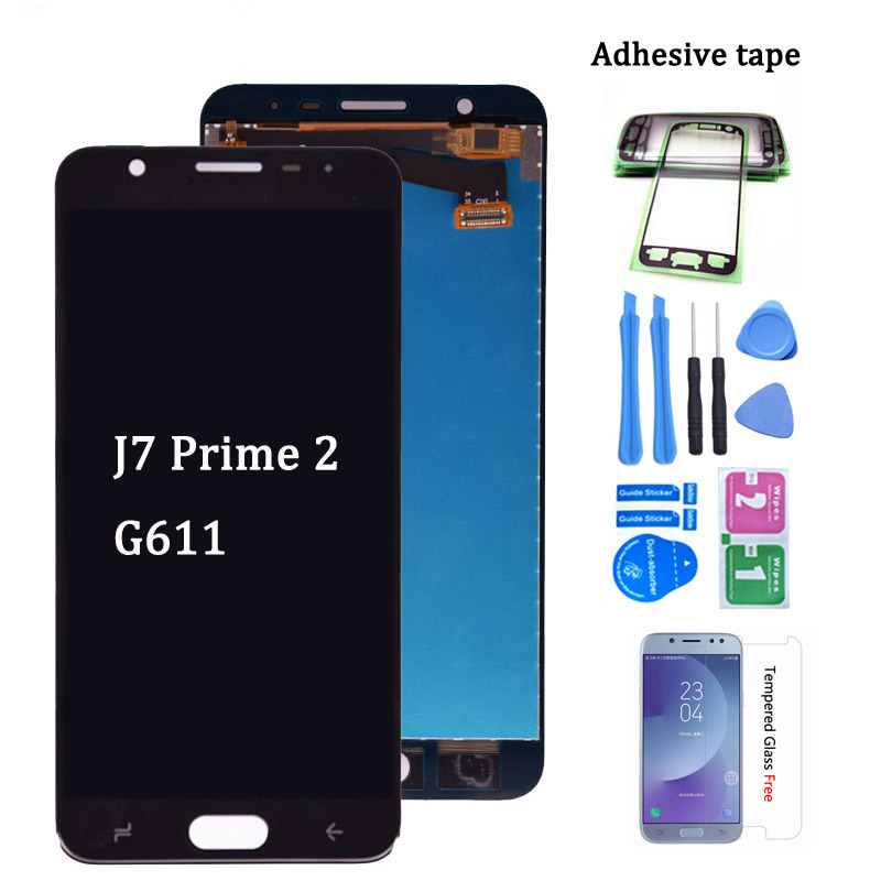 lcd For <font><b>Samsung</b></font> <font><b>Galaxy</b></font> <font><b>J7</b></font> Prime 2 <font><b>2018</b></font> G611 LCD <font><b>Display</b></font> Digitizer Touch Screen Assembly Replacement part for G611 G611FF/DS image