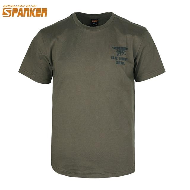 Excellente élite SPAMKER hommes sport dété à manches courtes armée américaine joint Original marine sceaux T-Shirt