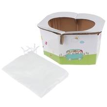 Детский портативный складывающийся горшок, сиденье для девочки или мальчика-детский дорожный унитаз