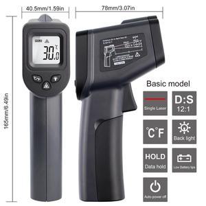 Image 4 - Цифровой инфракрасный термометр 50 ~ 380/550/750/1100/1300/1600 градусов одиночный/двойной лазерный Бесконтактный термометр пистолет термометр