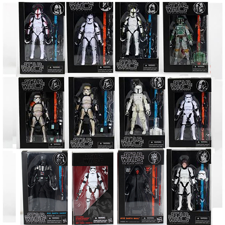 6.8inch 17cm 12 Types Star Wars Figure The Black Series 06 03 Sandtrooper 02 Darth Maul Action Figures Toys